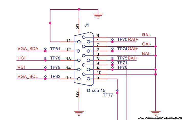 Розпиновка разъема D-sub 9F